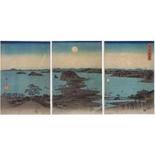 Utagawa Hiroshige: Night View of Eight Scenic Spots at Kanazawa, Musashi Province — 武陽金沢八勝夜景 - Japanese Art Open Database
