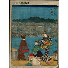 Utagawa Hiroshige: River Bank at Shijo in Kyoto - Japanese Art Open Database