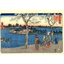 Utagawa Hiroshige: Shinobazu Pond at Ueno, Benten Shrine - Japanese Art Open Database