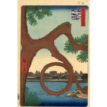 Utagawa Hiroshige: The Moon Pine, Ueno - Japanese Art Open Database