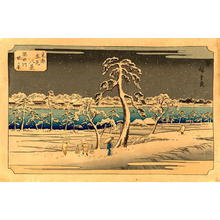 歌川広重: View From the Sumida River Embankment - Japanese Art Open Database