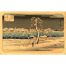 Utagawa Hiroshige: View From the Sumida River Embankment - Japanese Art Open Database