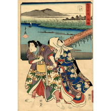 Hiroshige 1 and Kunisada 1: Okazaki - Japanese Art Open Database