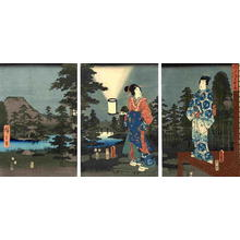 Hiroshige 1 and Kunisada 1: Prince Genji at Night - Japanese Art Open Database