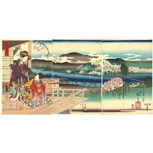 Hiroshige 1 and Kunisada 1: View of Sagano - Japanese Art Open Database
