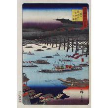 二歌川広重: Tenjin festival on the Yodo river in Osaka - Japanese Art Open Database