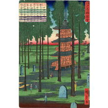 二歌川広重: Nakano Hosen Ji, (Pagoda in Hosen Ji Temple, Nakono) - Japanese Art Open Database