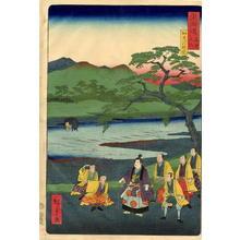 Utagawa Hiroshige II: Kamogawa Sightseeing — 加茂川遊覧 - Japanese Art Open Database
