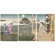 Hiroshige 2 and Kunichika: Chasing Fireflies - Japanese Art Open Database
