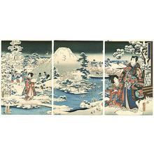 Hiroshige 2 and Kunisada 1: Prince Genji and Mt.Fuji - Japanese Art Open Database