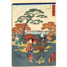 Hiroshige 2 and Kunisada 1: Kaianji Temple - Japanese Art Open Database