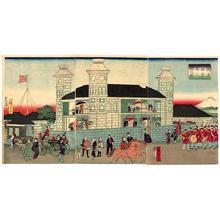 Utagawa Hiroshige III: Foreigners' residence on the waterfront in Yokohama - Japanese Art Open Database