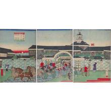 三代目歌川広重: The Hotel at Tsukiji, Tokyo — 東京築地ホテル館 - Japanese Art Open Database