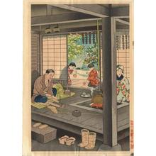 Hiyoshi Mamoru: Family at Home - Japanese Art Open Database