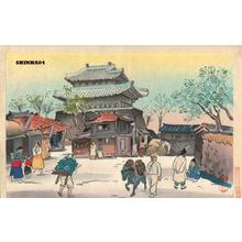 Hiyoshi Mamoru: Market scene - Japanese Art Open Database