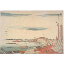 渡辺省亭: View at Ryogoku in Edo — 東都両国之風景 - Japanese Art Open Database