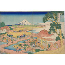 Katsushika Hokusai: Fuji Viewed from the Tea Plantation at Katakura in Suruga Province — 駿州片倉茶園ノ不二 - Japanese Art Open Database