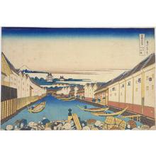 Katsushika Hokusai: Nihombashi Bridge in Edo — 江戸日本橋 - Japanese Art Open Database