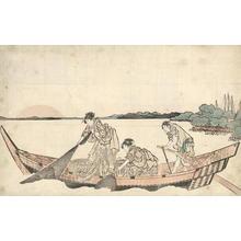 葛飾北斎: The Fisher Girls - Japanese Art Open Database