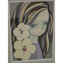 Ikeda Shuzo: Child with Hibiscus - Japanese Art Open Database