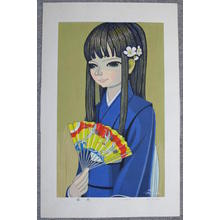 Ikeda Shuzo: Girl With Fan - Japanese Art Open Database