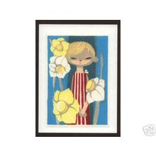 Ikeda Shuzo: Girl and Daffodils - Japanese Art Open Database