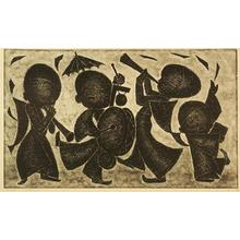 Ikeda Shuzo: No 129- children playing musical instruments - Japanese Art Open Database