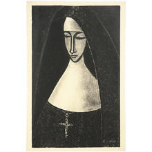Ikeda Shuzo: No 300- A Catholic nun - Japanese Art Open Database