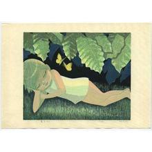 Ikeda Shuzo: Reclining - Japanese Art Open Database