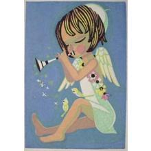Ikeda Shuzo: Unknown- Angel and Trumpet - Japanese Art Open Database