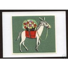 Ikeda Shuzo: Unknown- Horse and Flowers - Japanese Art Open Database