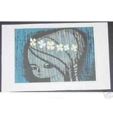 Ikeda Shuzo: Untitled- Childs Face and Flowers - Japanese Art Open Database