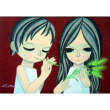 Ikeda Shuzo: Wheat-straw whistle — 麦笛 むぎぶえ - Japanese Art Open Database