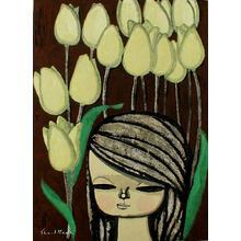 Ikeda Shuzo: Yellow Tulips - Japanese Art Open Database