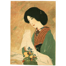 Ikeda Terukata: Lithograph- Bijin - Japanese Art Open Database