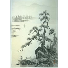 Imoto Tekiho: Lake and Pine Tree- PC - Japanese Art Open Database