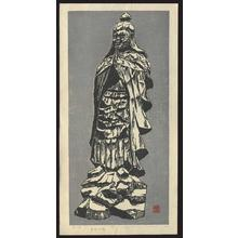Inoue Toyohisa: Statute of Idaten carved by the Buddhist Priest Enku - Japanese Art Open Database