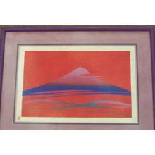 Ishihara Mikumo: Unknown, red Fuji - Japanese Art Open Database