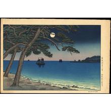 Tsuchiya Koitsu: The Moon from Suma Beach — 須磨海岸の月 - Japanese Art Open Database