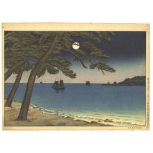 風光礼讃: The Moon from Suma Beach — 須磨海岸の月 - Japanese Art Open Database