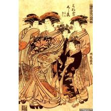 Isoda Koryusai: Courtesans in their New Year's Finery - Japanese Art Open Database