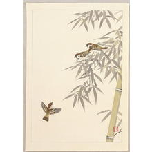 Ito Nisaburo: Sparrows and Bamboo - Japanese Art Open Database