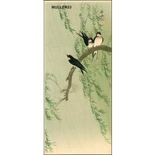 Ito Sozan: Barn Swallows and Willow - Japanese Art Open Database