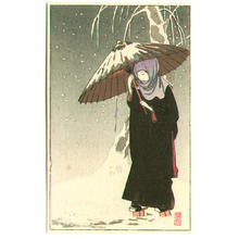 Ito Sozan: Lady in Black in Snow - Japanese Art Open Database