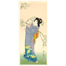 Ito Sozan: Lady and Cherry Blossoms - Japanese Art Open Database