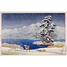 逸見享: Lake Shibayama in Kaga - Japanese Art Open Database