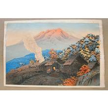 Henmi Takashi: Late Autumn at Yachi in Towadako National Park - Japanese Art Open Database