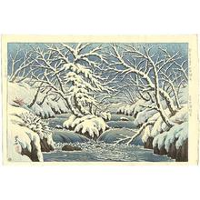 逸見享: Rapids in Kunitachi Park in Towada in snow (Oirase) - Japanese Art Open Database