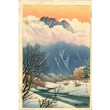 逸見享: Spring Snow at Jokochi- or Kamikochi - Japanese Art Open Database