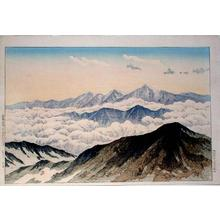 Henmi Takashi: Tateyama Mountains from White Horse Peak (Hakuba Peak) - Japanese Art Open Database